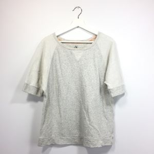 Calvin Klein Shirt Large Gray Short Sleeve Crew
